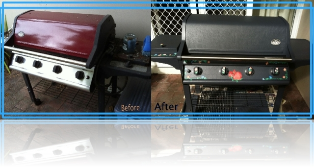 Before and After - Repurposed gas BBQ