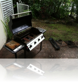 Before - Repurposed gas BBQ