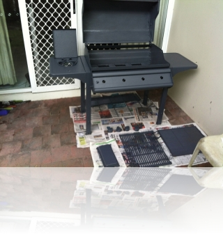 During 1/2 - Repurposed gas BBQ