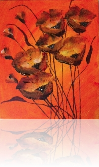 acrylic-paint-orange-poppy