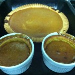 Jarrahdale pumpkin pie close up